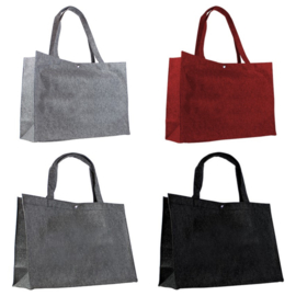 """Luxe Vilten tas """"Large"""" met Drukknoop - 45*15*33cm - in 7 kleuren leverbaar"""
