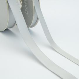 Satijn lint - Rol 25m * 10 mm - Zilver