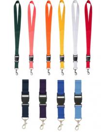 Keycord - Lanyard - Verkrijgbaar in 11  kleuren