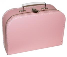 Roze  Vintage Kartonnen Koffertje - 16*11*7,5 cm - Mini