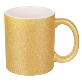 Glitter Mok 11 oz. Goud  | AA Kwaliteit