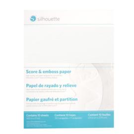 Score & Emboss Paper (21,6 * 27,9cm) - 10 vellen