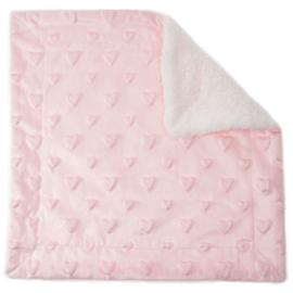 Baby Knuffeldoekje met Teddy binnenkant | Roze met hartjes