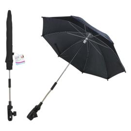 Verstelbare Paraplu voor de Wandelwagen - Zwart