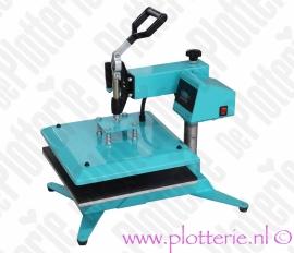 OP VOORRAAD: 'De Plotterie' Zwenk Arm Hittepers / Transferpers met 38 x 38 cm persvlak - Gratis verzending!