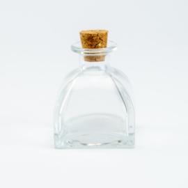 Parfumflesje Luxe - Helder Glas met Kurkstop - 60 ml