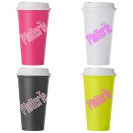 Mix (4 kleuren) - Kunststof drinkbeker met deksel - 520 ml