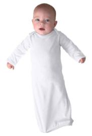 New Born Baby Slaapzakje | Nachtjapon met handschoentjes | Wit