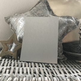 Blanco Naambordje - RVS Look Zilver - 15 * 20 cm