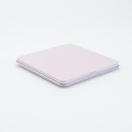 Vierkant plat opberg blik - Roze