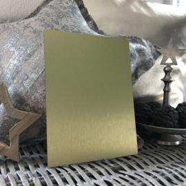 Blanco Naambordje - RVS Look Goud - 15 * 20 cm
