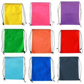 Rugzak met Koord - non woven - in 12 kleuren leverbaar