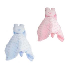 Knuffeldoekje Konijn - in Roze en Blauw verkrijgbaar