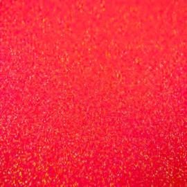 Fel Rood- Glitter Vinyl - A4 formaat - 21*30cm