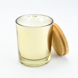 Geurkaars Groot - Goud glas met een deksel van kurk - Jasmijn geur