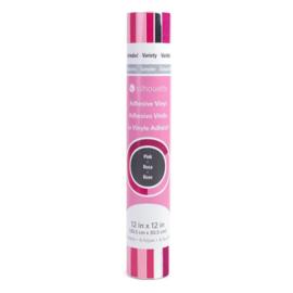 Roze Vinyl Proefpakket - 6 vellen van 30,5*30,5cm - Silhouette