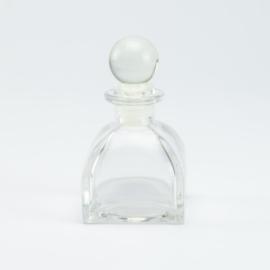 Parfumflesje Luxe - Helder Glas met Glasstop - 60 ml