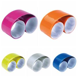 Reflecterende Snap / Klap Armbanden van PVC - in 5 kleuren leverbaar