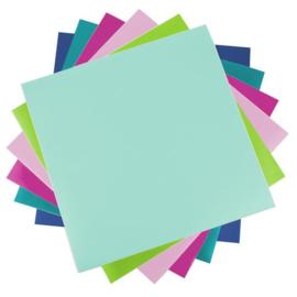 Bright & Bold Vinyl Proefpakket - 6 vellen van 30,5*30,5cm - Silhouette