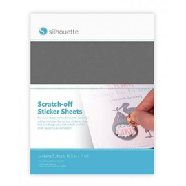 Scratch-Off Stickervellen - Zilver - 5 vellen