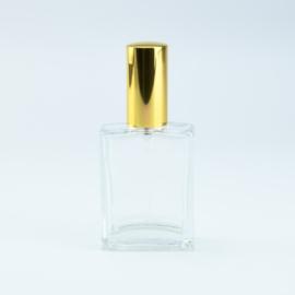 Luxe Parfumflesje - Helder Glas met Goudkleurige Spraydop  - 60 ml
