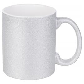 Glitter Mok 11 oz. Zilver | AA Kwaliteit
