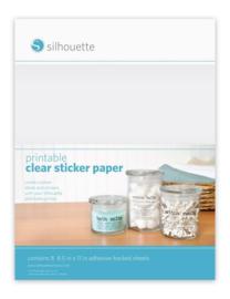 Printbaar Transparant Sticker Papier - 8 vellen