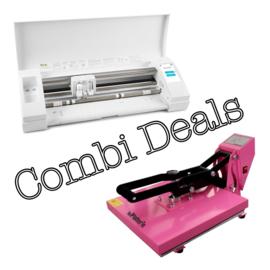 Combi Deal: Zwarte Cameo & Vlakke Transferpers 38*38cm