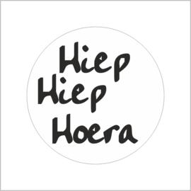 """Sluitzegel """"Hiep Hiep Hoera"""""""