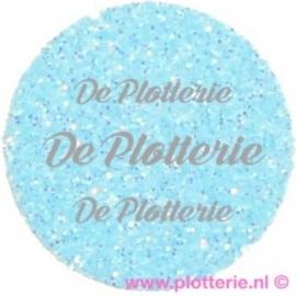 Fluor Blauw - Glitter Flex