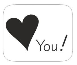 "Sluitzegel ""Love you!"""