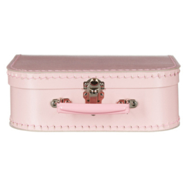 Roze Vintage Kartonnen Koffertje - 25*17*8,5 cm - Normaal