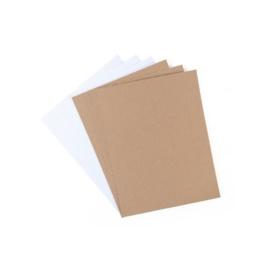 Zelfklevend Geribbeld Karton (Adhesive Corrugated Paper) - 6 vellen