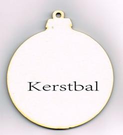 Houten Kerstbal van 11 * 10 cm - Populierenhout 4 mm