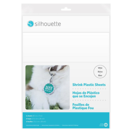 Shrink Plastic Vellen (Krimpfolie) - Wit - 6 vellen