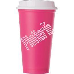 Fuchsia - Kunststof drinkbeker met deksel - 520 ml