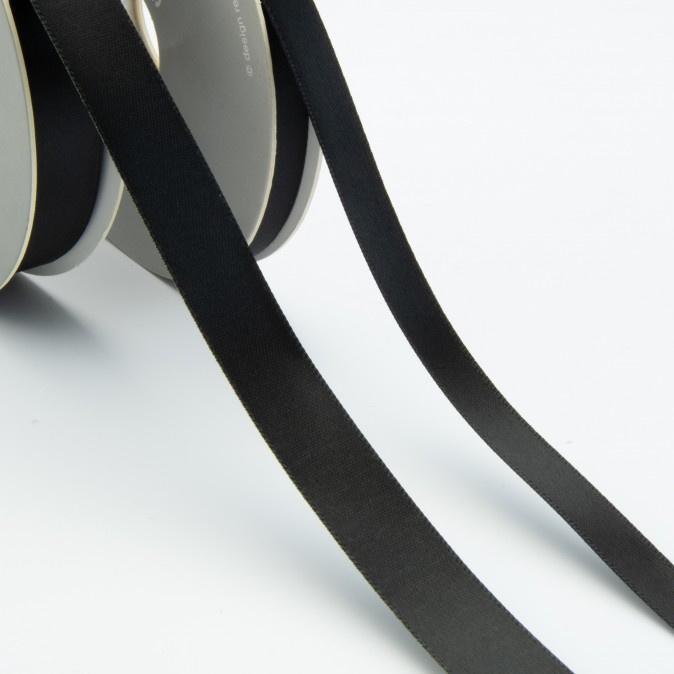 Satijn lint - Rol 25m * 10 mm - Zwart