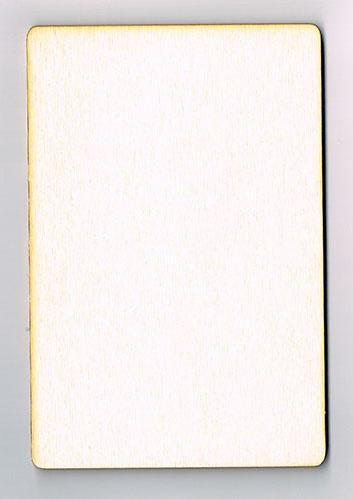 Houten Kaart van 13 * 18 cm - Populierenhout 4 mm