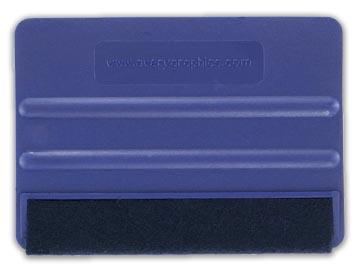 XL Squeegee / Schraper / Rakel mét foam/vilt - Roze - 15cm