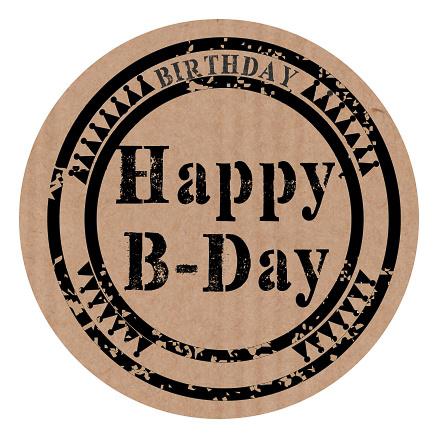 "Sluitzegel ""Happy B-Day"""