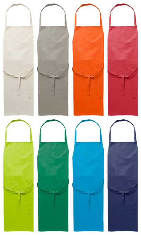 Keukenschort van katoen - in 9 kleuren leverbaar