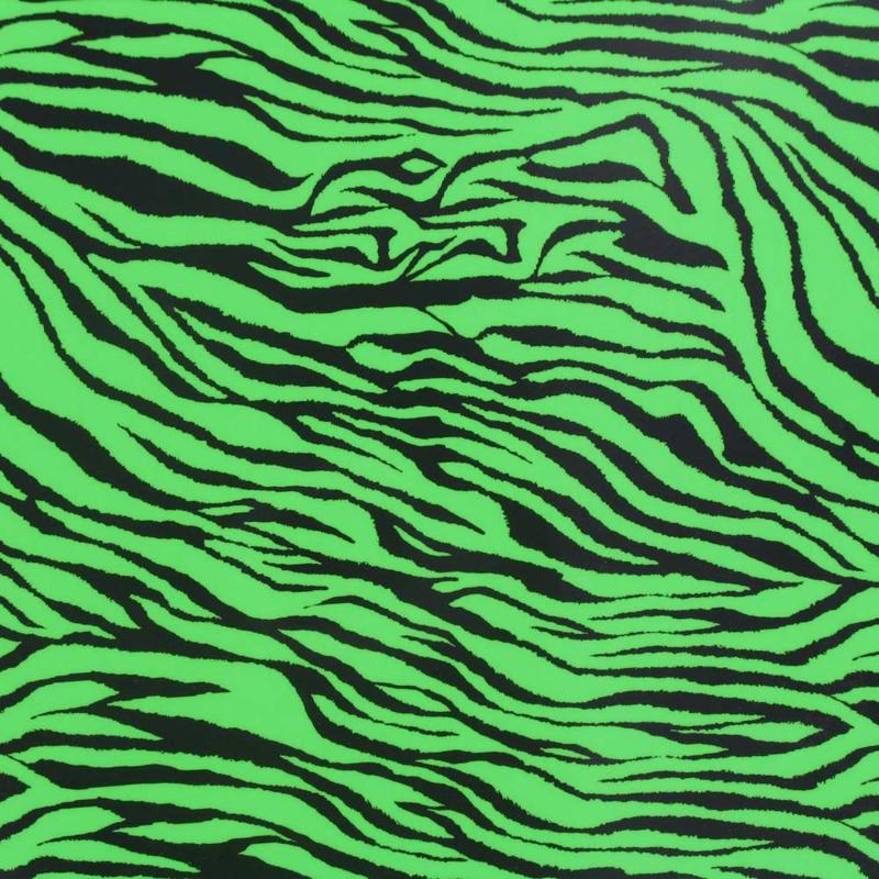 Neon Groene Zebra Print - Fashion Flex (Chemica)
