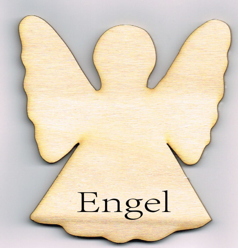Houten Engel van 10 * 9,5 cm - Populierenhout 4 mm