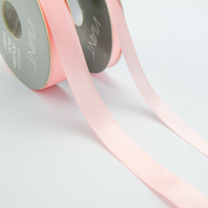 Satijn lint - Rol 25m * 10 mm - Roze