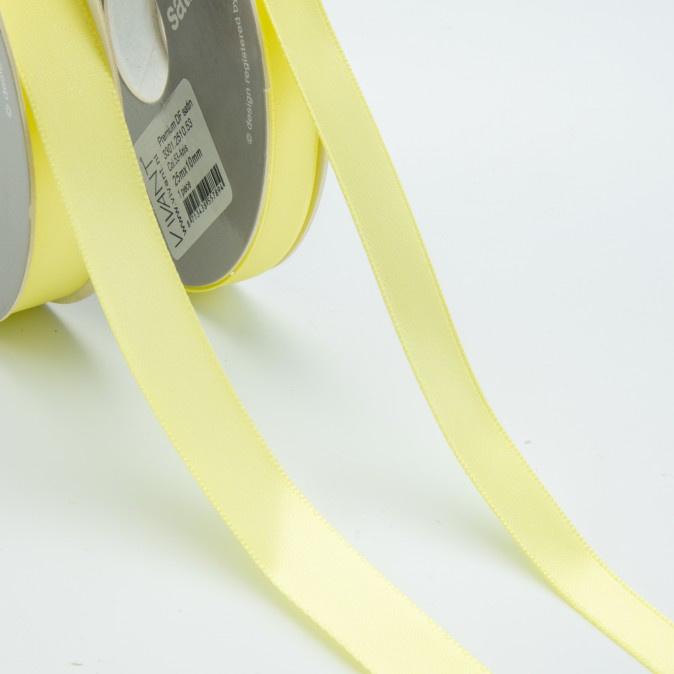 Satijn lint - Rol 25m * 10 mm - Geel