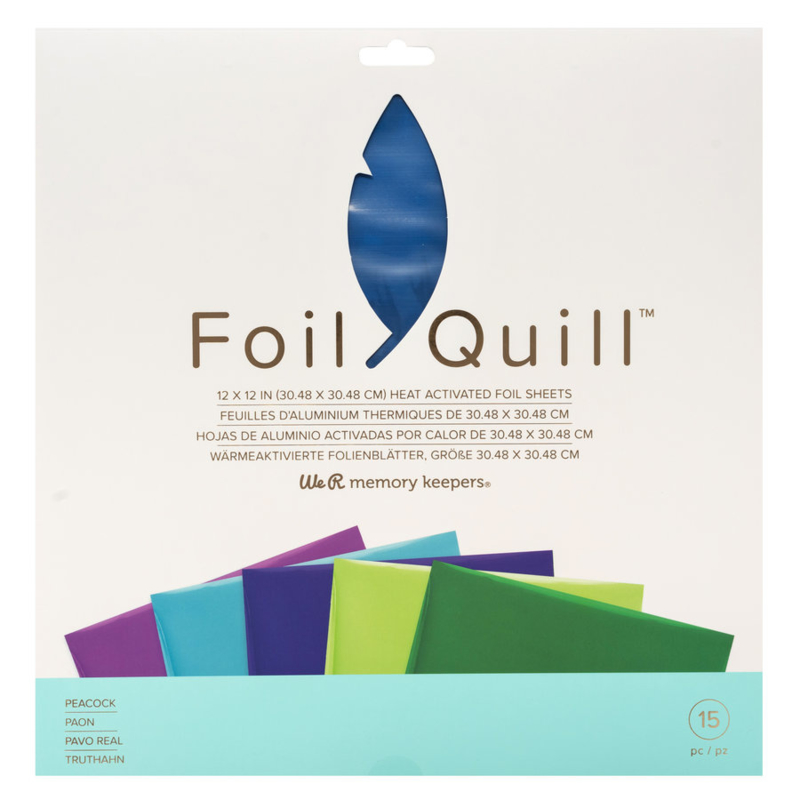 """We R Memory Keepers - Foil Quill Folie 12"""" x 12"""" - Peacock"""