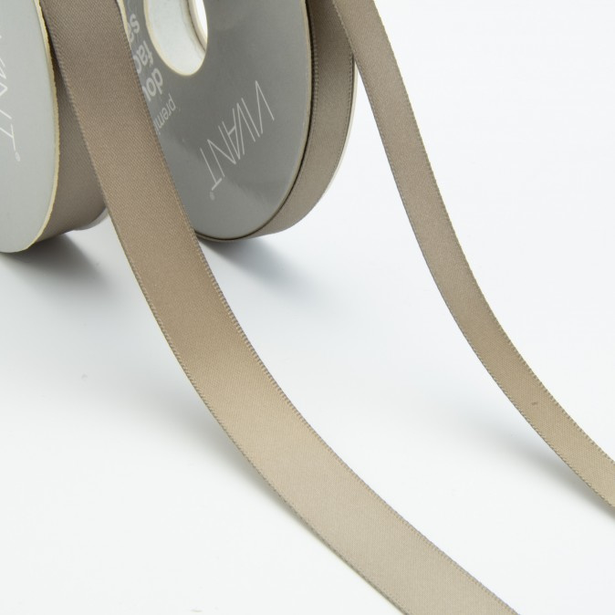 Satijn lint - Rol 25m * 10 mm - Taupe