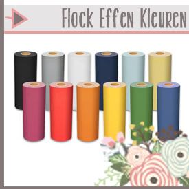 Flock Effen Kleuren