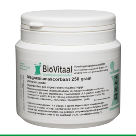 Biovitaal Magnesiumascorbaat - 250gr poeder