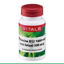 Vitals Vitamine B12 1000 mcg met folaat 500 mcg 100 zuigtabletten